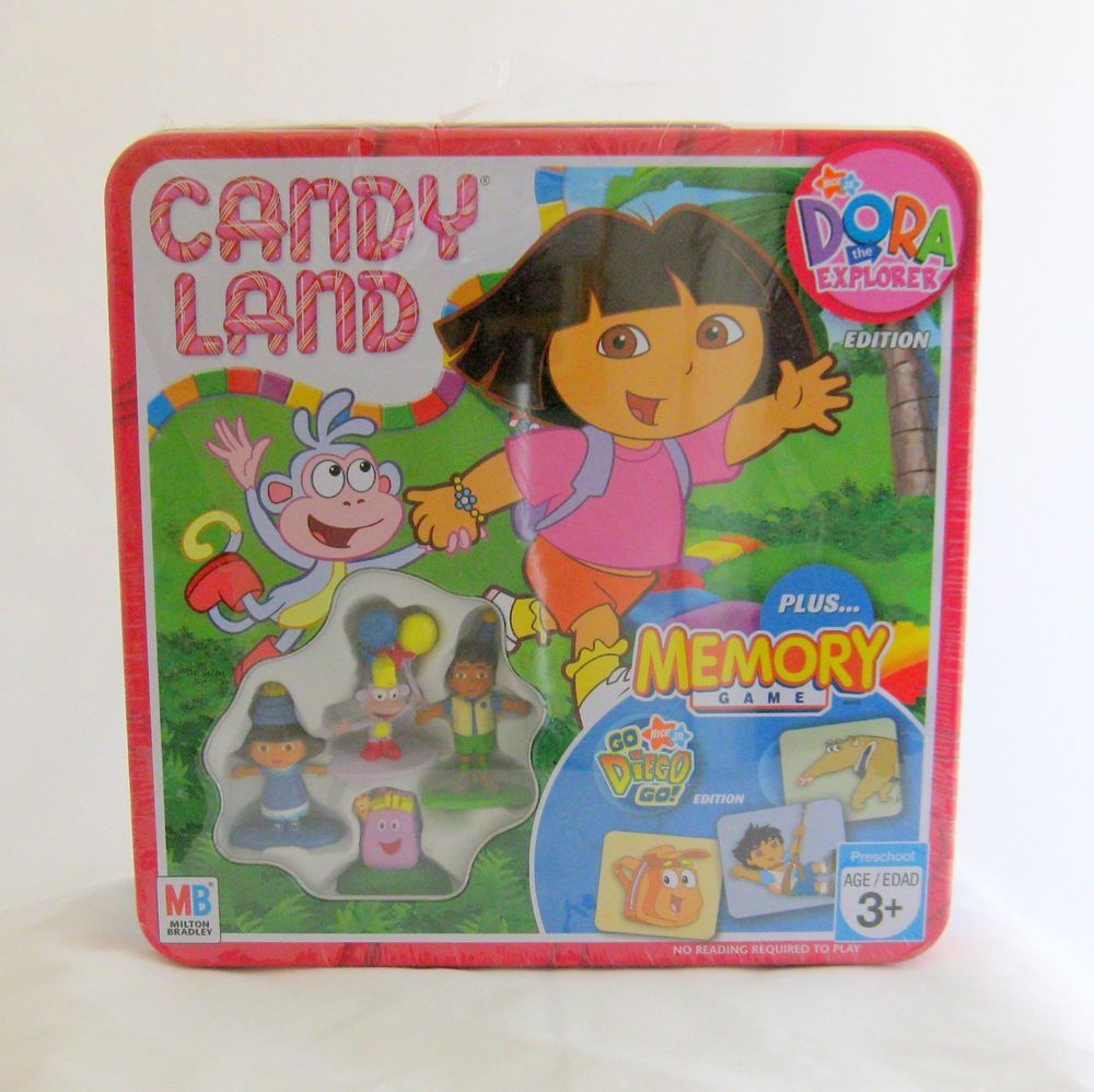 Deluxe Dora The Explorer Candy Land + Go Diego Memory Game