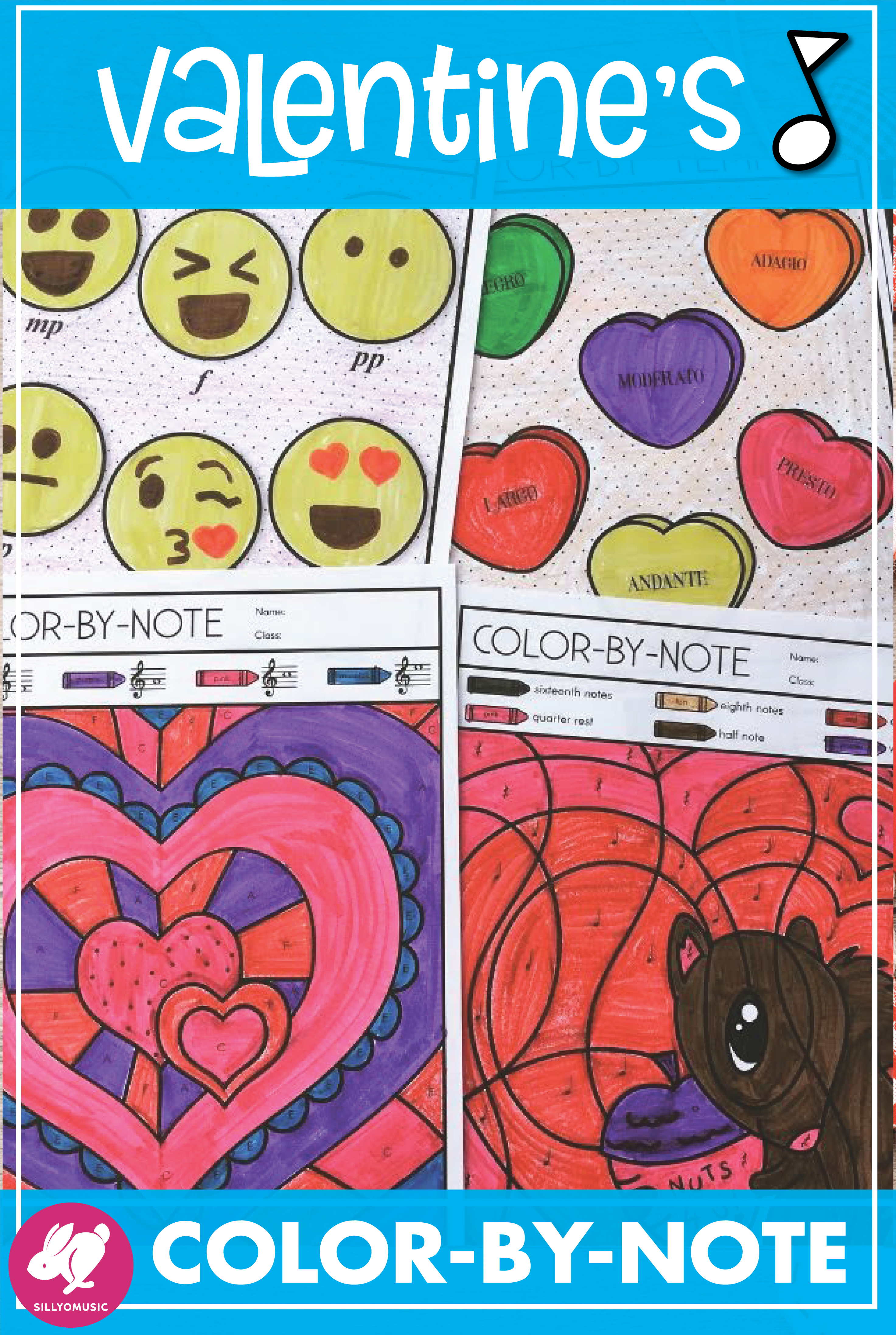 valentines day color by note coloring pages for music class music dia de san valentin printables music valentine coloring printable