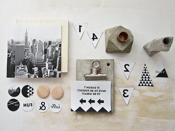 DIY Kit de Crealoo #6 con proyectos en hormigón y transfer de imagenes