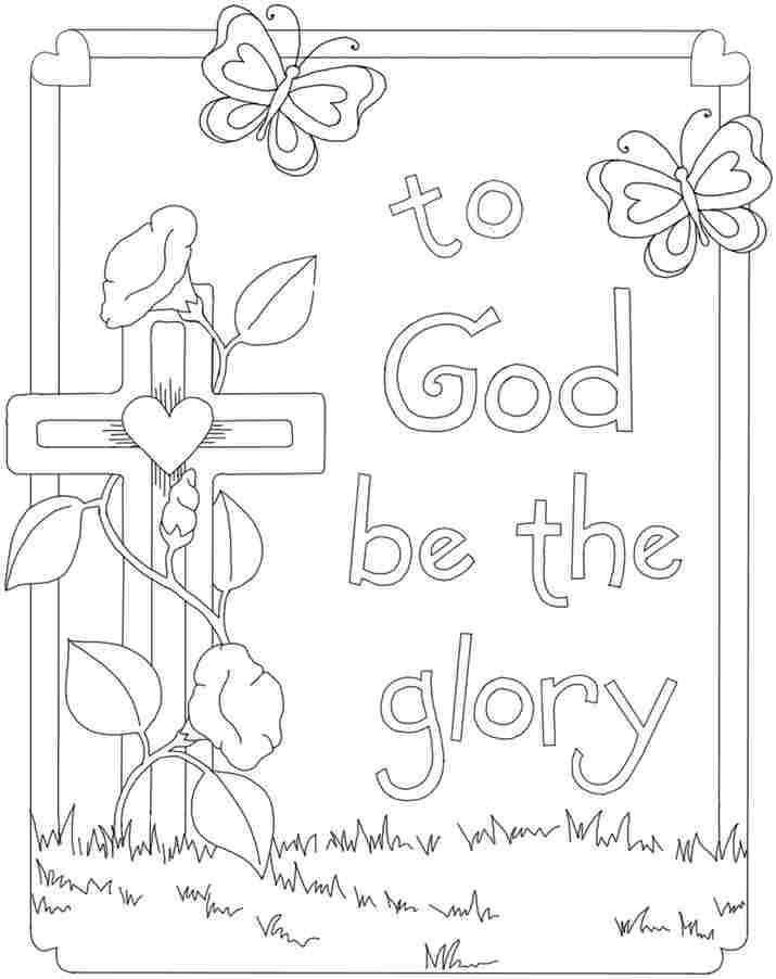 easter christian coloring pages kindergarten | Printable Free Christian Easter Coloring Pages For Kids ...