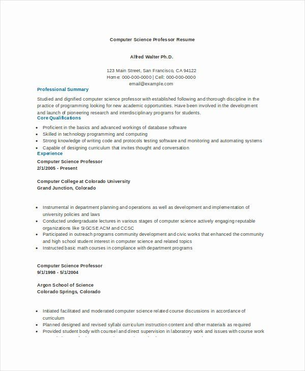 √ 20 entry level computer science resume in 2020  resume