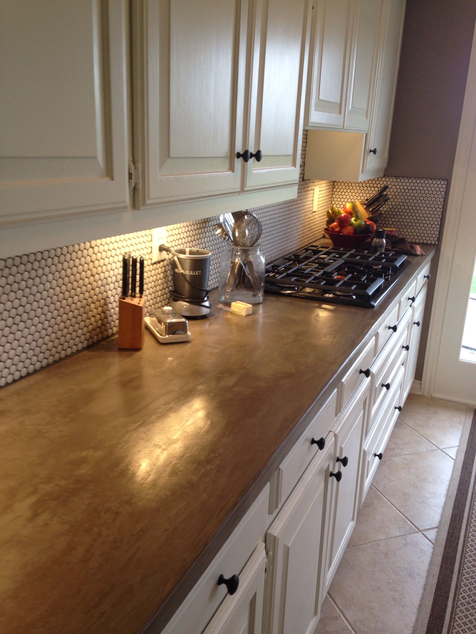 Our New Concrete Counters Ardex Skim Coat Applied Over