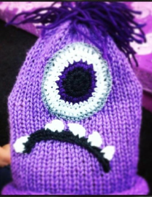 Purple minion ~ Prym Maxi Knitting Mill Machine + Crochet | Fibre ...
