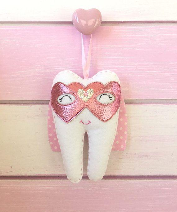 Zahnfeekissen rosa mit Namen