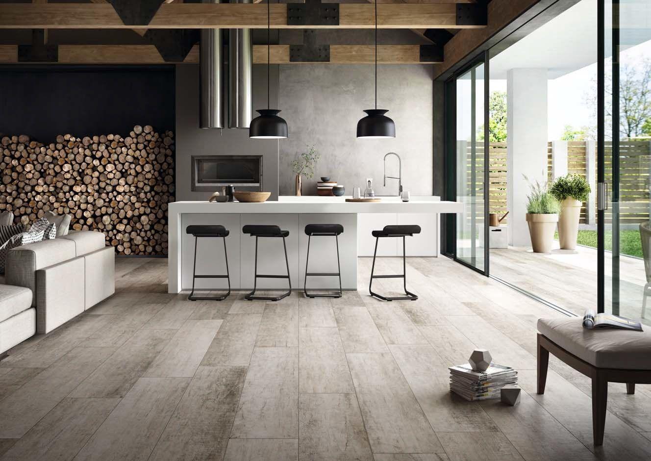 Pavimento rivestimento effetto legno per interni ed esterni cadore