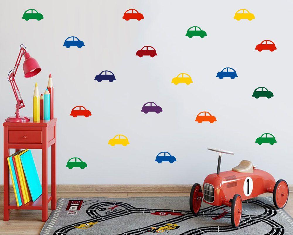 Set Of 20 Car Pattern Wall Decals Decals Online Wall Patterns Nursery Wall Decor Kids Wall Decals [ 801 x 1000 Pixel ]