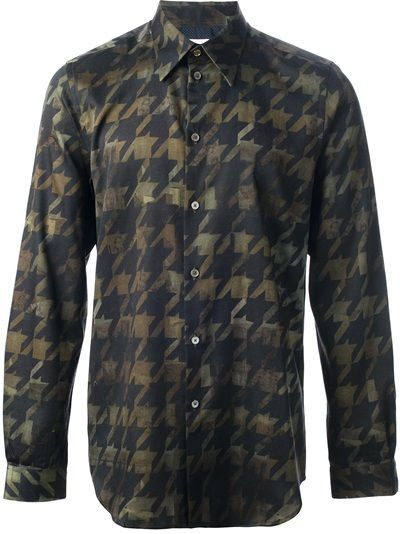 PAUL SMITH Houndstooth Print Shirt