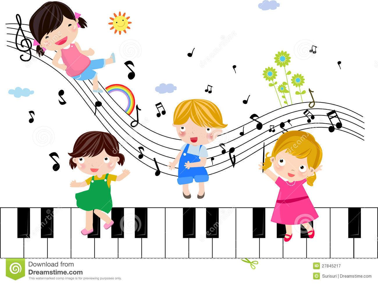 Kids Playing With Musical Notes Download From Over 64 Million High Quality Stock Photos Images Vectors Sign Up For Free Today Image 27845217 Deti Noty