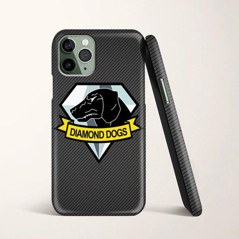 Diamond Dog Metal Gear Solid Carbon Fiber Logo Iphone 11 Pro Case Ca Casacases Diamond Dogs Metal Gear Metal Gear Solid