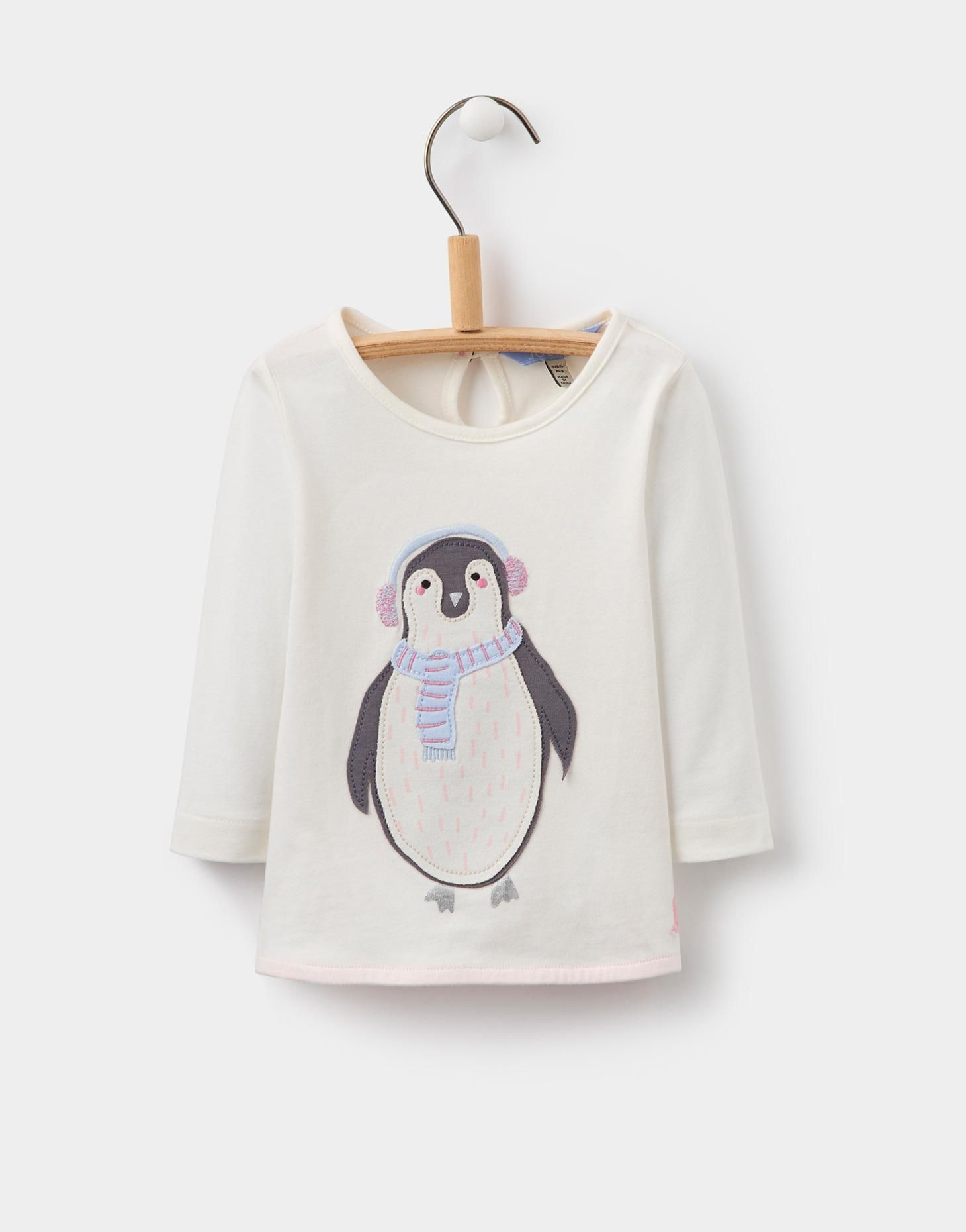 Ava penguin applique jersey tshirt joules us shirts