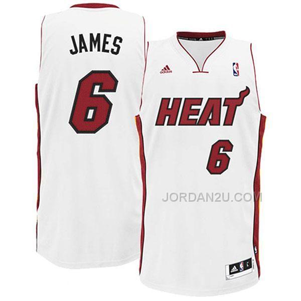 lebron james miami heat white jersey