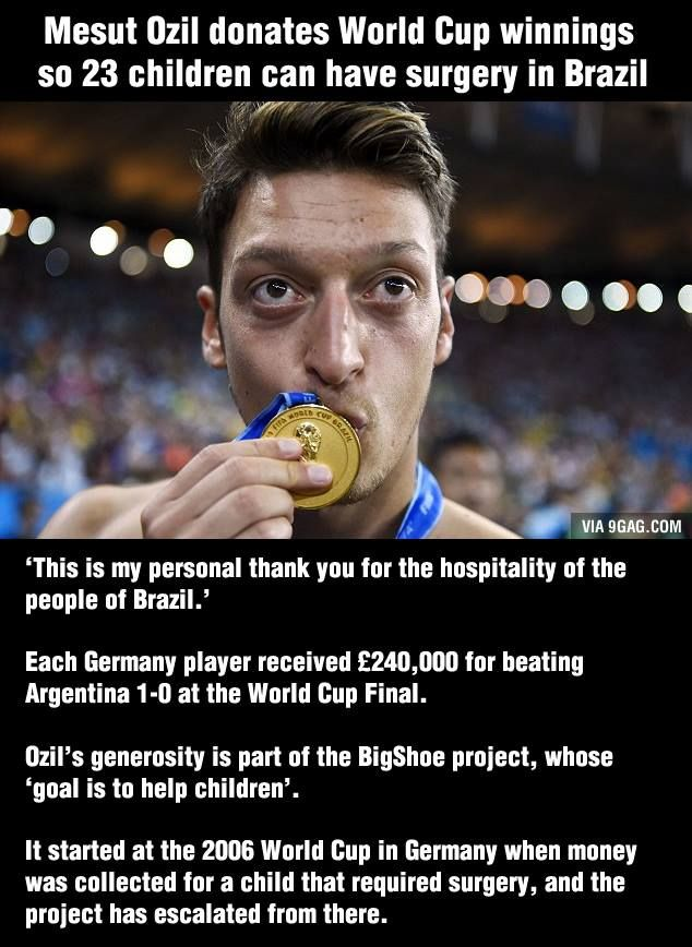 Good Guy Özil donates World Cup winnings