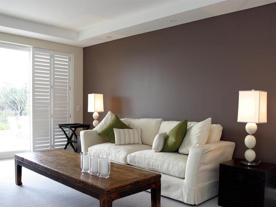 fabulous living room feature wall ideas | Dulux Designer Silk, Dulux Wash & Wear Semi Gloss 101 ...