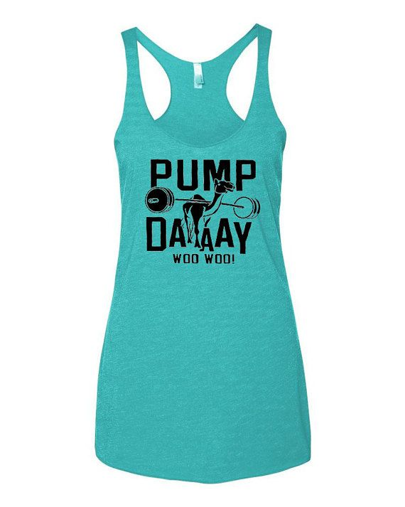 5f7829f5 Pump Day Camel Tri-Blend Tank Top. Funny Workout Tanks. Women's Fitness.  Exercise. Gym. Group Shirts. Lifting. Yoga Tank.