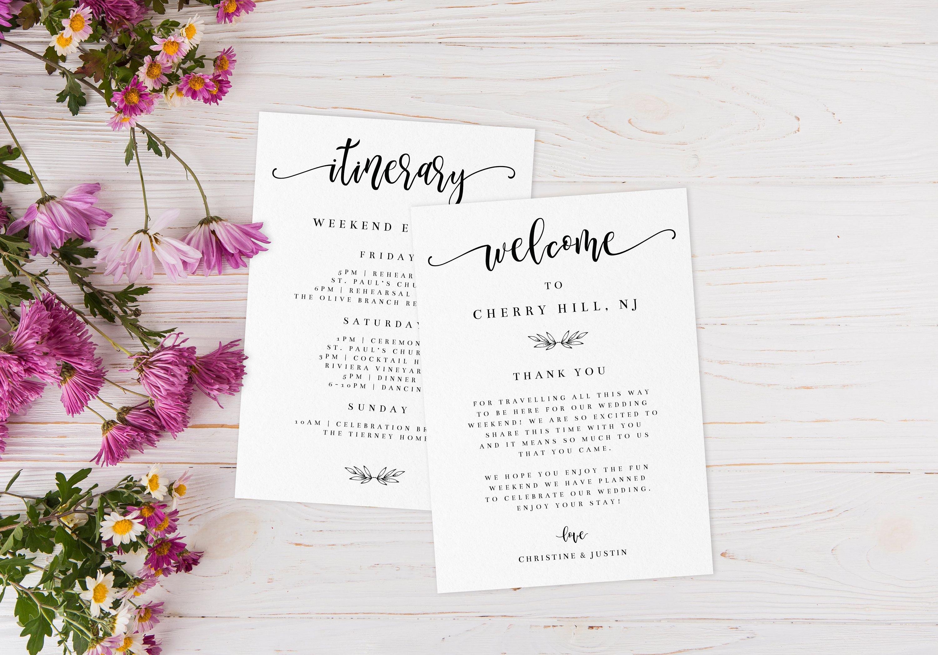 Printable Welcome Card Template Hotel Welcome Bag Insert Etsy Welcome Card Rustic Wedding Diy Wedding Itinerary