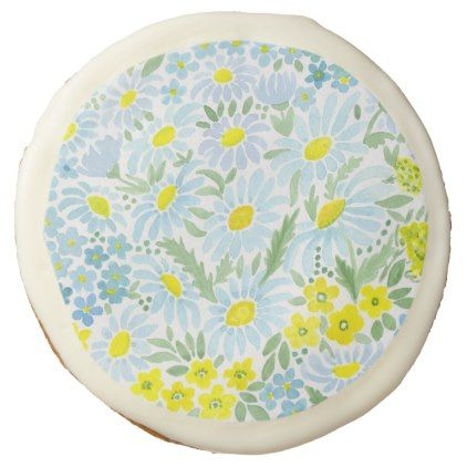 #Watercolor daisies sugar cookie - #Chocolates #Treats #chocolate