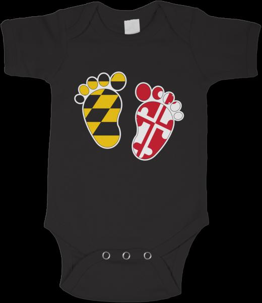Maryland Feet Black Baby Onesie Baby Onesies Red Baby Black Babies