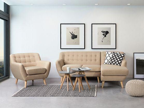 Sofa Beige - Couch - Ecksofa - Eckcouch - Polsterecke - MOTALA
