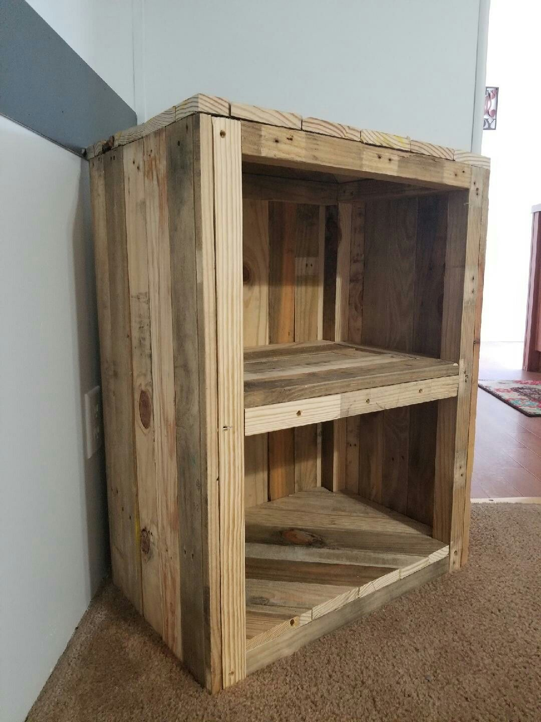 Corner shelf made from pallet wood, taking orders (With ...