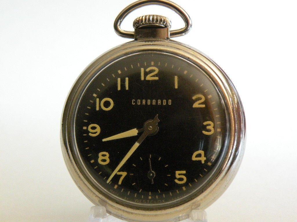 fd4bc1478 Sold Westclox Vintage Pocket Watch ''Private Label - Coronado'' circa 1930's