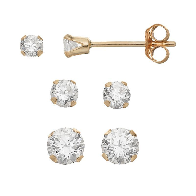 set zirconia pin women stud taylor gold earring cubic grace s