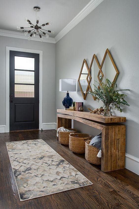 48 Awesome Modern Farmhouse Entryway Decorating Ideas  #awesome #decorating #entryway #farmho... #entrywayideas