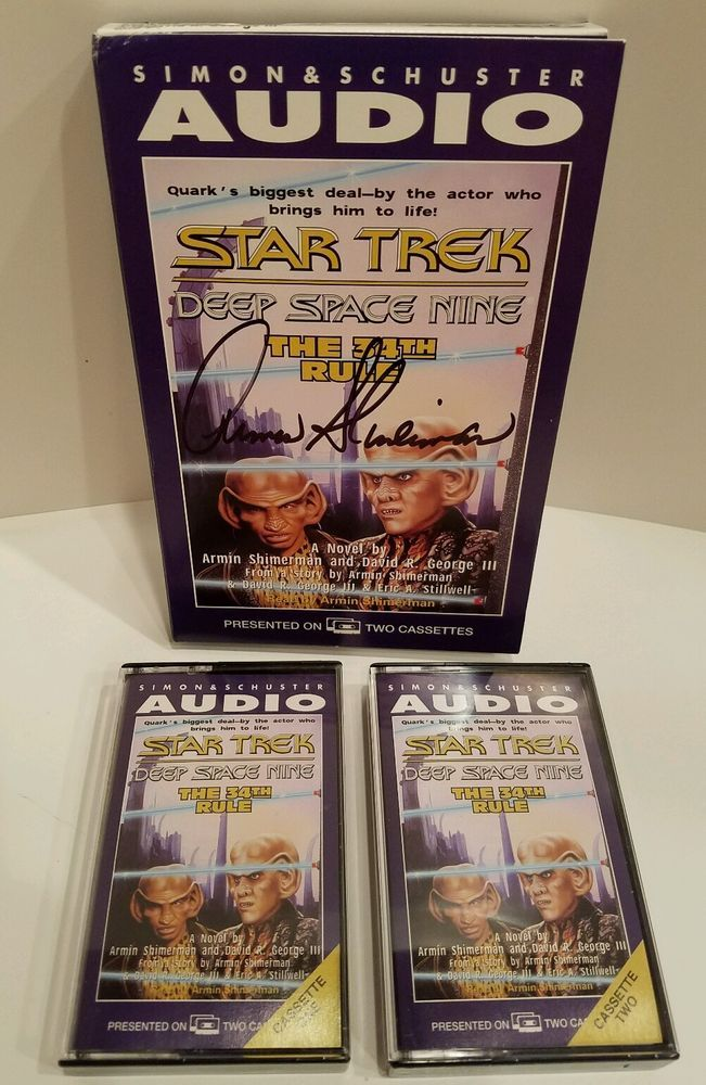 Star Trek Deep Space Nine The 34th Rule Cassettes Autographed Armin Shimerman
