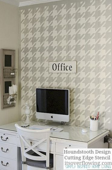 Stenciled Office Wall Paint Designs Stencils Wall Design