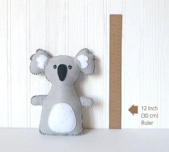 Koala Stuffed Animal Sewing Pattern, Koala Hand Sewing Pattern ...