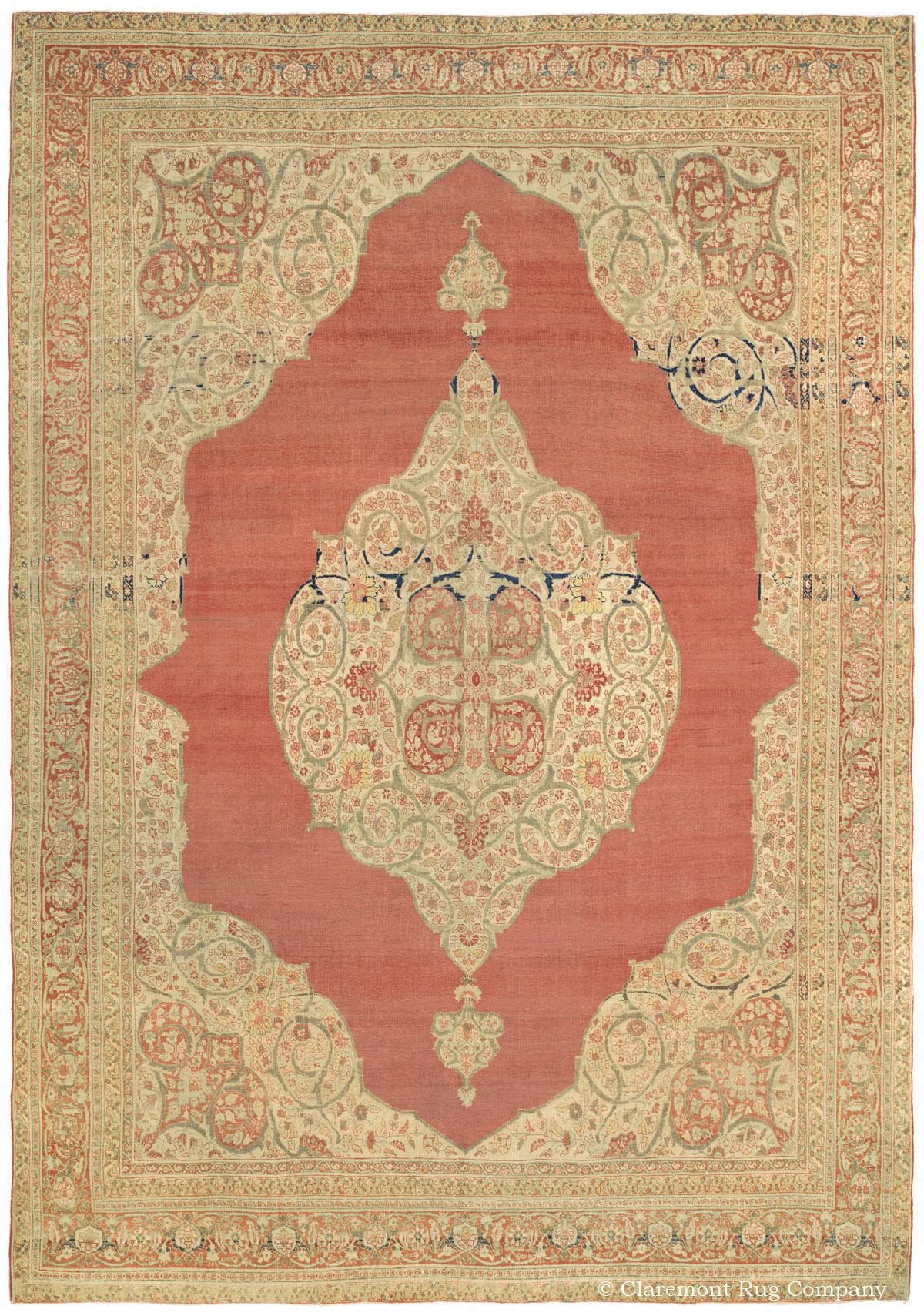 Hadji Jallili Haji Jalili Tabriz Rugs Claremont Rug Company Persian Rug Designs Vintage Persian Rug Claremont Rug Company