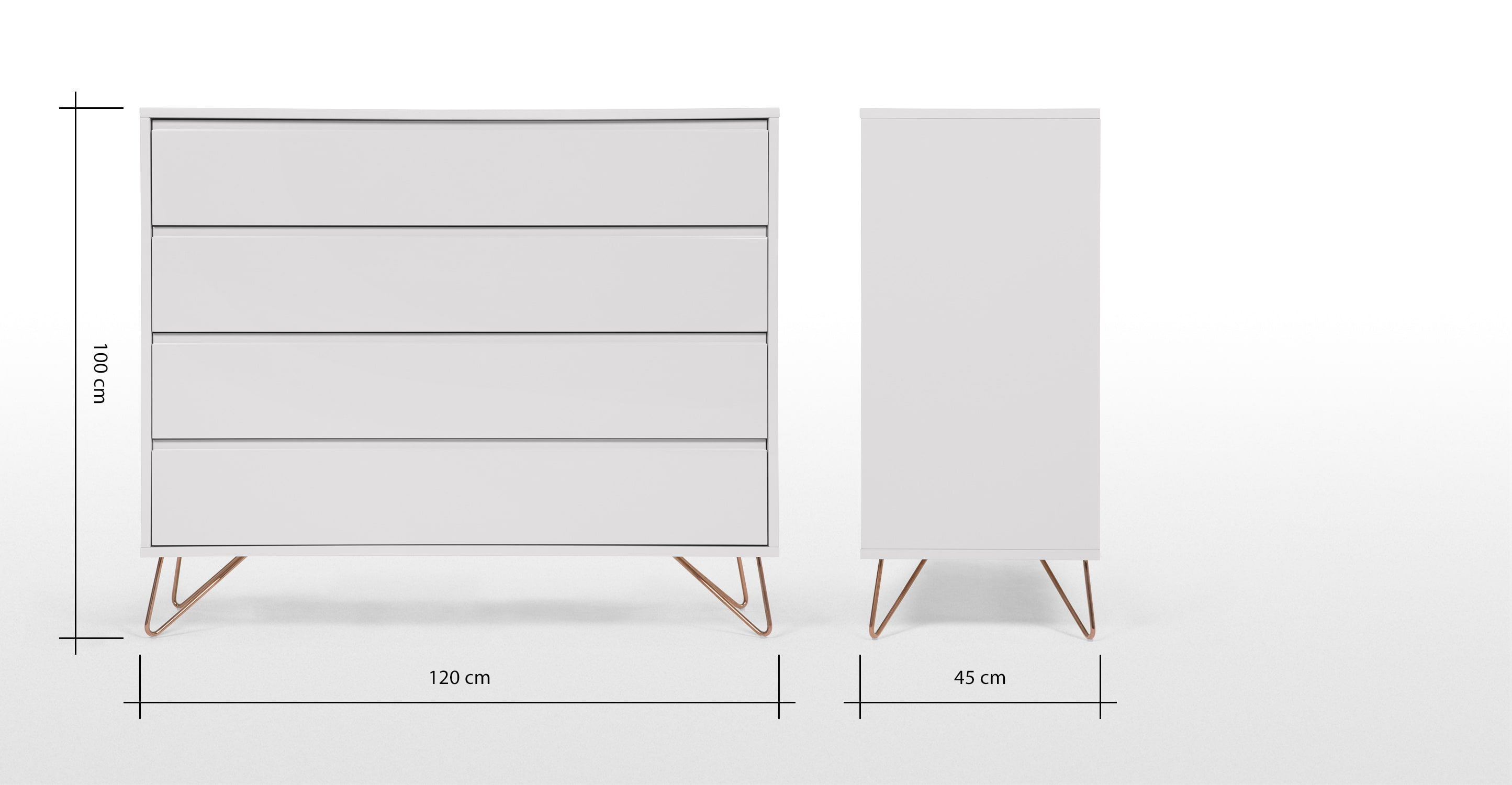 Wohnen Lansdowne Kommode Walnuss Und Fischreihergrau Made Made Chest Of Drawers Grey Copper Elona Drawers Collection