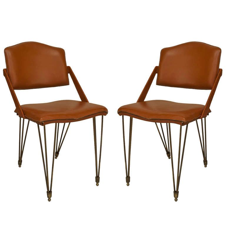 Pair Of 1940s French Armchairs By Jacques Adnet From A Unique