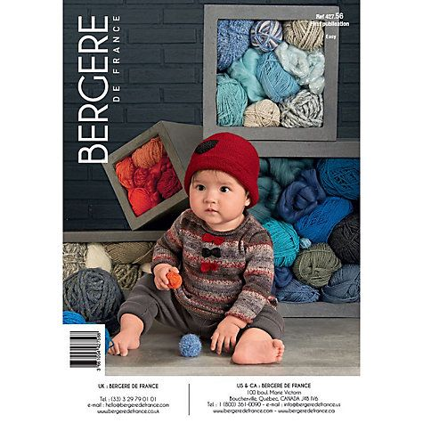 02f11bd02c63 Bergere De France Baby s Sweater and Hat Knitting Pattern