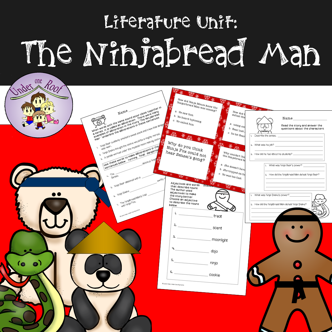The Ninjabread Man Literacy Activities
