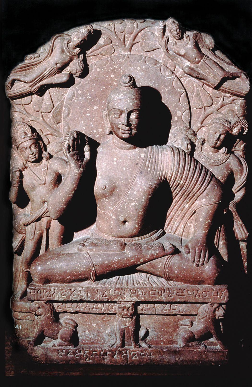 E 2nd C Seated Buddha Found At Katra Mound Mathura India Kushan Period Red Sandstone Buddhist Art Buddha Buddhism Art