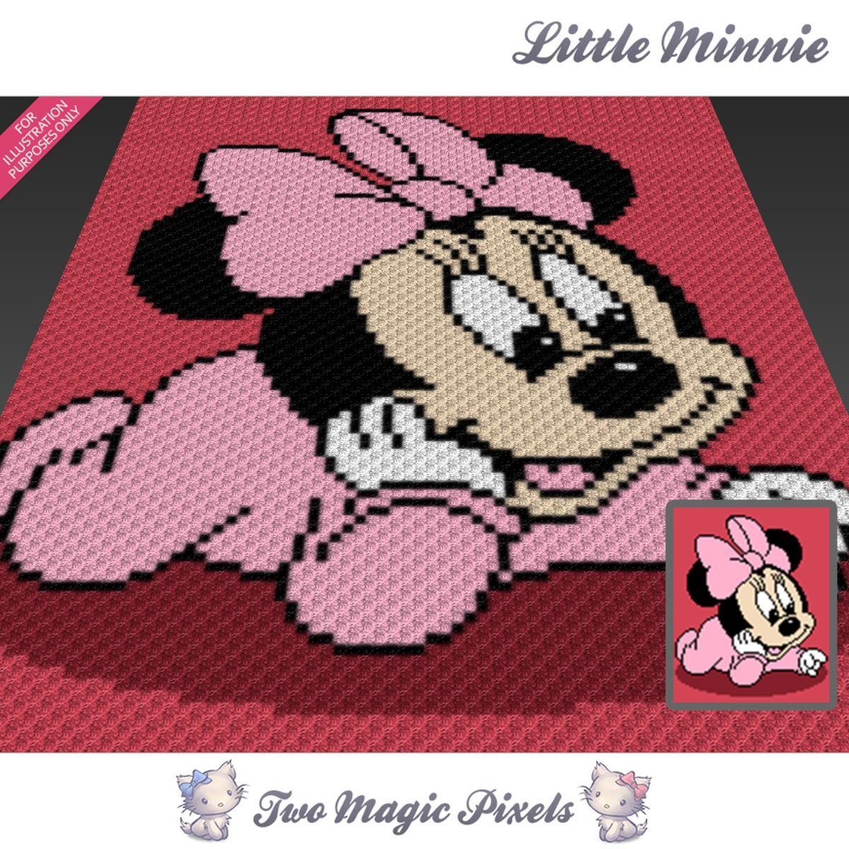 Little Minnie C2C Crochet Graph   Mantas de bebes, Manta y Ganchillo