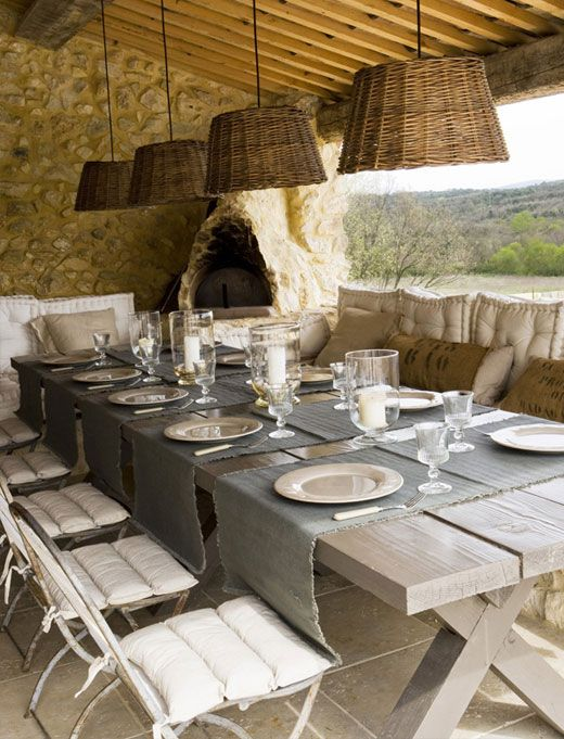 The Kerchum Residence Is A Perfect Mix Of Modern: Rustic Residence France Outdoor Dining Area Perfect Mix Of Rustic, Modern And Elegant