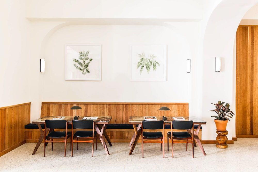 <p>The Tilden hotel is located in San Francisco's Tenderloin district. Once an eclectic neighborhood for the working class, it is now becoming an artistic hub, where Tilden's minimalism and unassuming