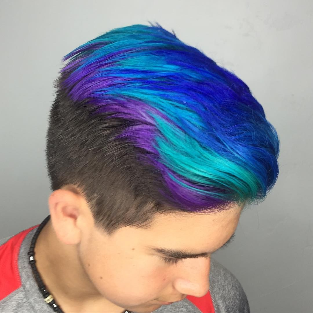 My Name Is Vinnie And I Like To Party Lanza Hair Color Is So Beautifully Pigmented This Kid Can Pull Off Kids Hair Color Boys Colored Hair Mens Hair Colour