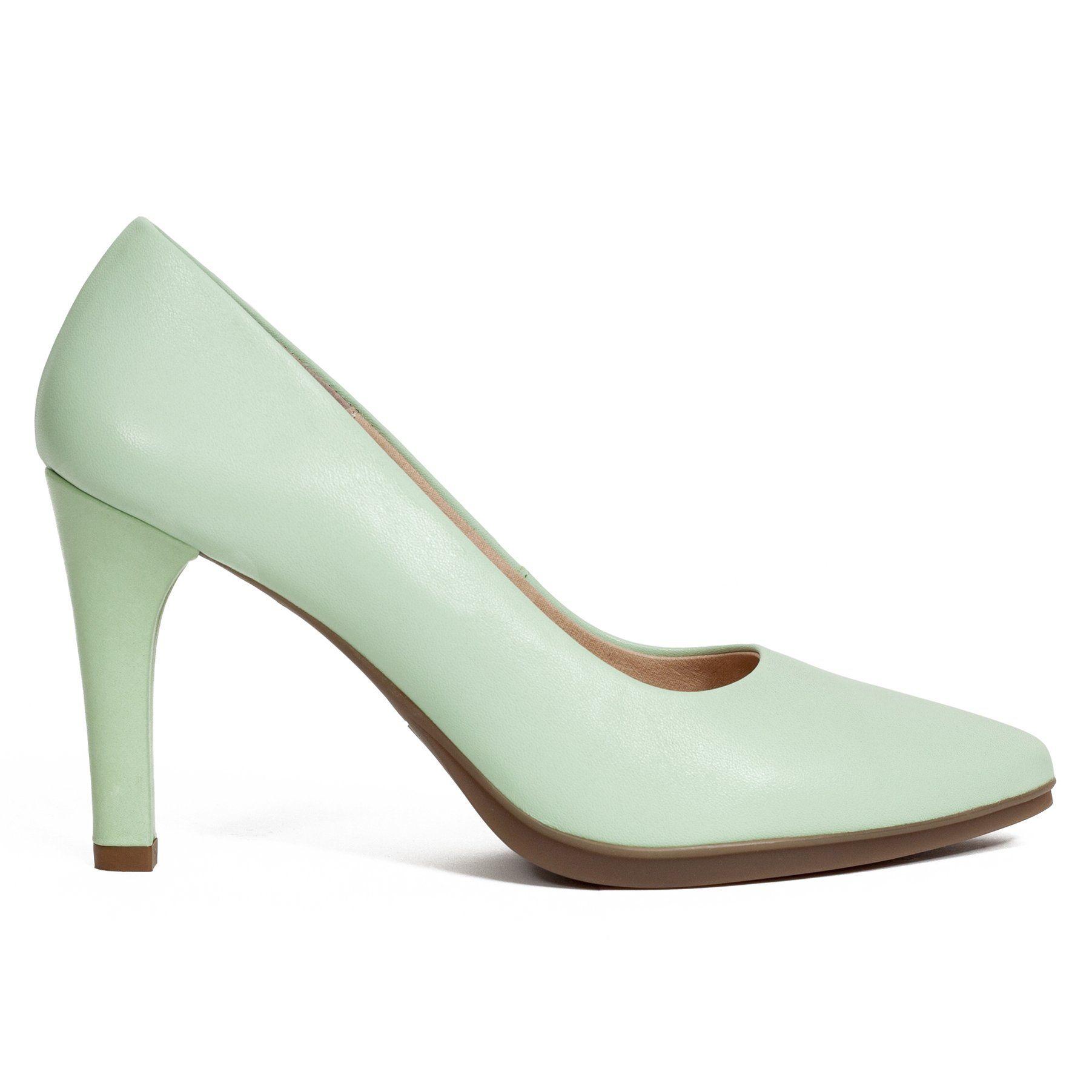 mejores zapatillas de deporte d201e 6f73b Zapato de tacón aguja Urban GLAM Verde Agua | Zapatos ...