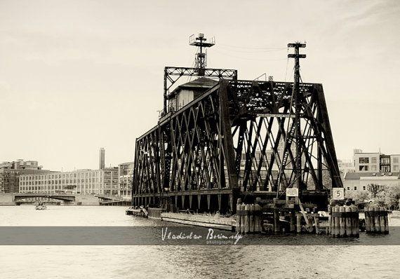 Milwaukee River Railroad Bridge - Historic Bridges - Milwaukee, Wisconsin, 8x10 photo - $25 #milwaukee #historicbridges