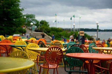 The memorial union chairs at the university of wisconsin for The terrace madison wi