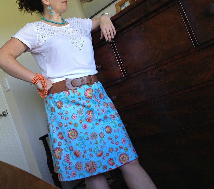 A Line Skirt Size L Designer Fabric - by AnnieGeorgina on madeit