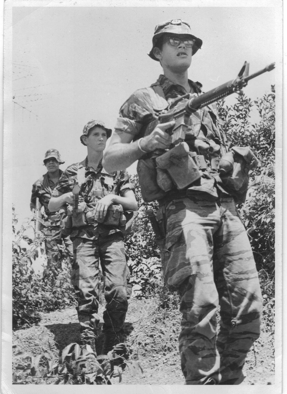 101st Airborne, 1/327, on patrol in 1967  Vietnam War