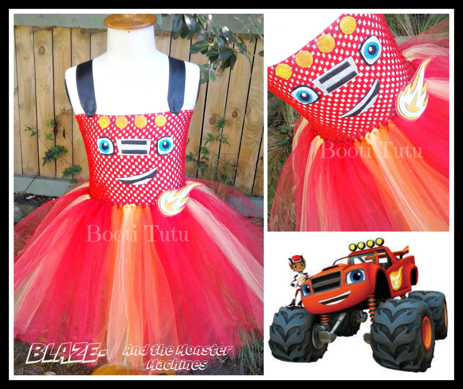 Monster Truck Tutu by BootiTutu on Etsy https://www.etsy.com/listing/470440911/monster-truck-tutu