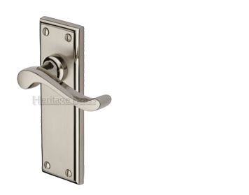 Attrayant U0027Edwardianu0027 Dual Finish Door Handles, Satin Nickel With Polished Nickel  Edge   EDW MC (sold In Pairs)