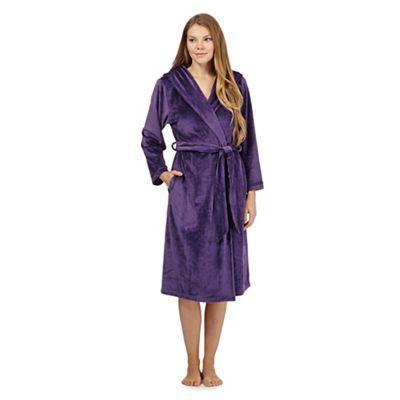 B By Ted Baker Purple Fleece Dressing Gown Debenhams