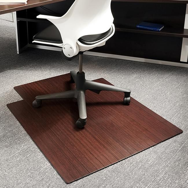 Eco Bamboo Standard Cherry Chair Mat 36 X 48 By Jani