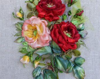 Ricamo  Tenerezza   Silk ribbon embroidery di SilkRibbonembroidery