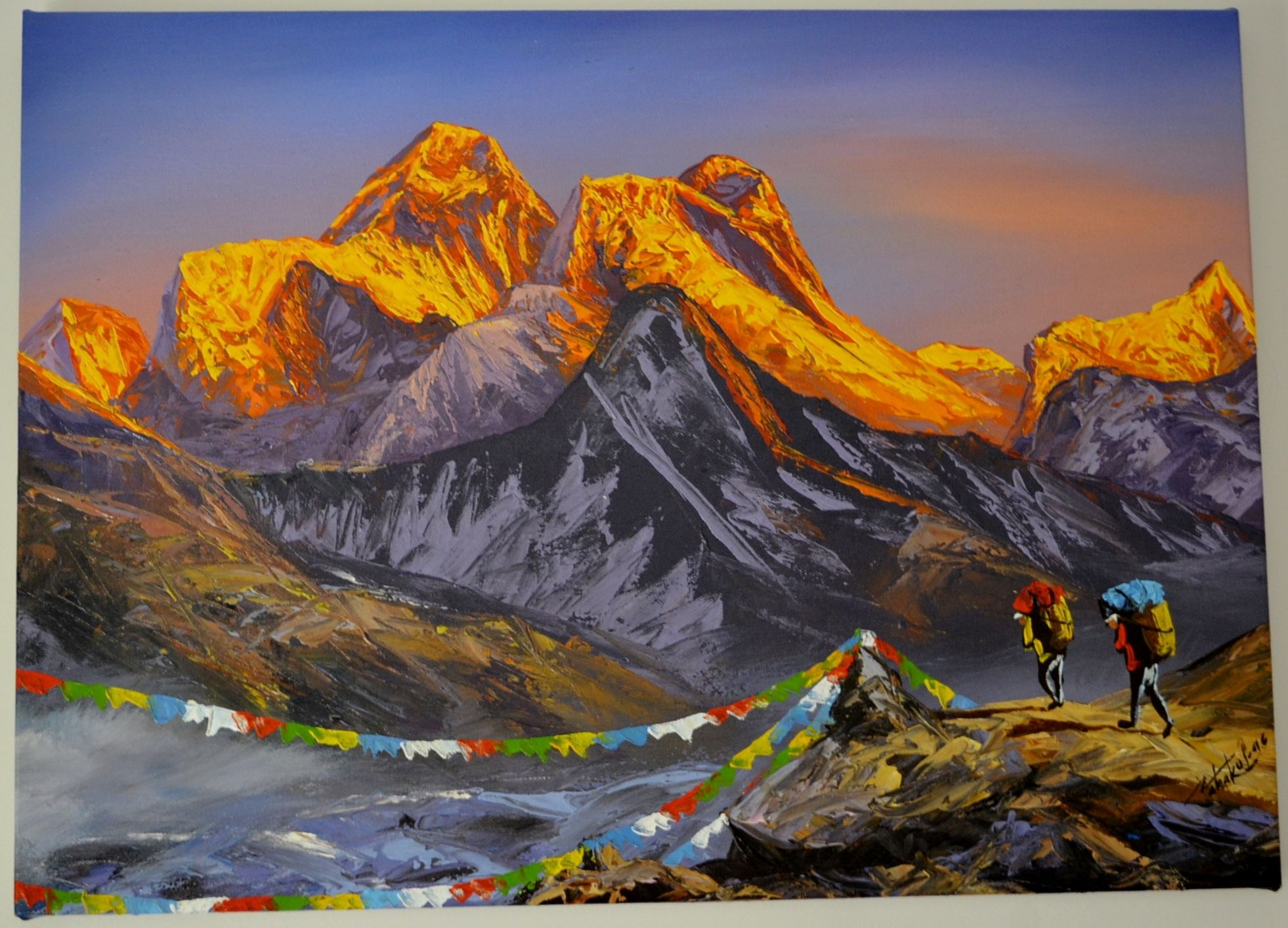 Paintings from nepal golden lining